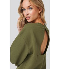 na-kd trend cut out oversized sweatshirt - green