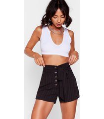 womens give us a tie high-waisted shorts - black