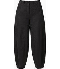 linnen 7/8-broek, zwart 46