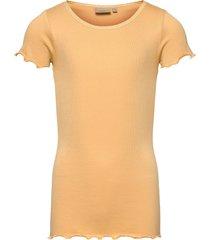 rib t-shirt lace ss t-shirts short-sleeved gul wheat