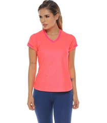 camiseta básica, color fucsia para mujer