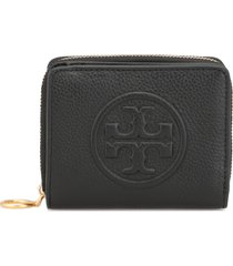 tory burch plebbed leather wallet