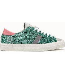 d.a.t.e. sneakers hill low calf glitter verde