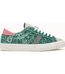 d.a.t.e. sneakers hill low calf glitter verde