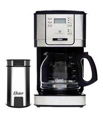 kit cafeteira flavor programável e moedor de café oster 110v