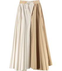 jejia poplin asymmetric skirt