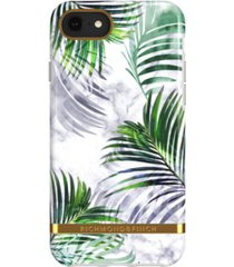 richmond & finch white marble tropics case for iphone 6/6s, 7 and 8
