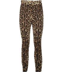 dolce & gabbana multicolor silk blend trousers