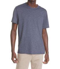 men's vince broken stripe crewneck t-shirt, size small - blue