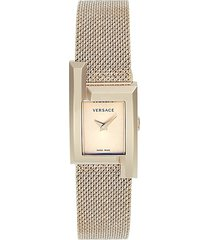 versace women's stainless steel mesh bracelet watch