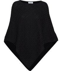 triangle cable poncho poncho regnkläder svart davida cashmere