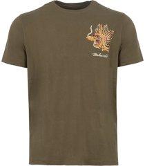 maharishi maha olive golden dragon t-shirt msl8548