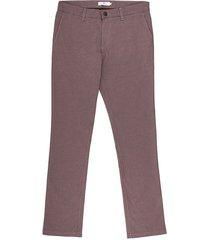 pantalón casual 340 habano en textura slim fit para hombre 92443