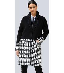 mantel alba moda zwart::wit