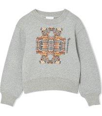 burberry grey cotton sweatshirt
