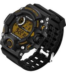 reloj deportivo digital militar sanda 326 hombre dorado
