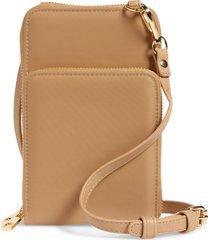 mali + lili nylon phone crossbody bag - beige