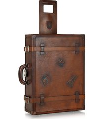 pratesi designer travel bags, genuine leather suitcase