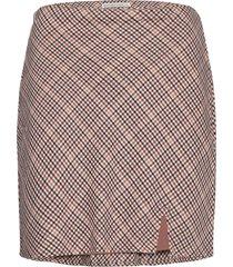 anf womens skirts kort kjol brun abercrombie & fitch