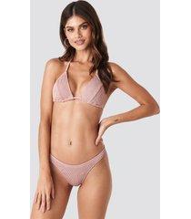 gerda x na-kd basic smocked bikini bottom - pink