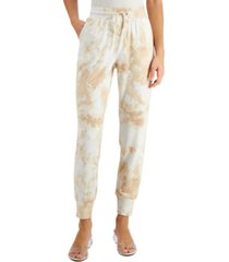 bar iii tie-dyed jogger pants, created for macy's