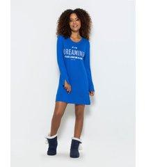 camisola any any visco azul - azul - feminino - dafiti