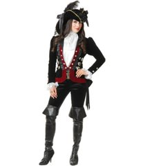 buyseasons women's sultry pirate lady wine jacket adult costume