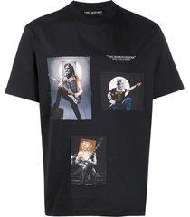 neil barrett the rockstar gods printed t-shirt - black