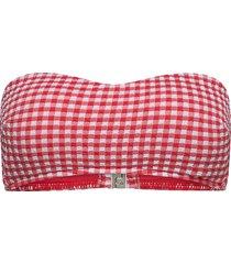 check in bustier bandeau bikinitop röd seafolly