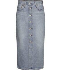 button front midi skirt blue c knälång kjol blå levi´s women