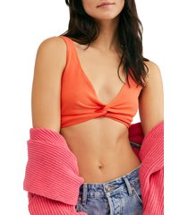 women's free people intimately fp tori bralette, size small - coral