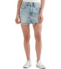 lucky brand high-rise cutoff jean skirt