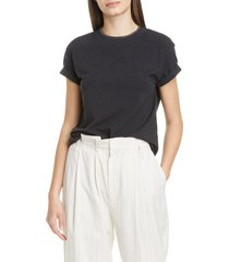 women's brunello cucinelli monili collar cotton t-shirt