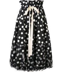 lee mathews cherry spot balloon skirt - black