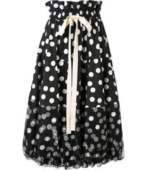 lee mathews cherry spot balloon skirt - black