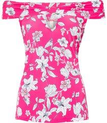 maglia con spalle scoperte (fucsia) - bodyflirt boutique