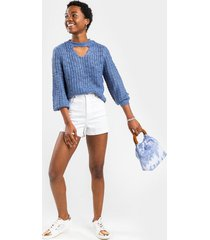melody cut out sweater - blue