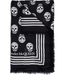 alexander mcqueen scarf biker 120x140