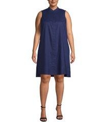 anne klein plus size trapeze dress