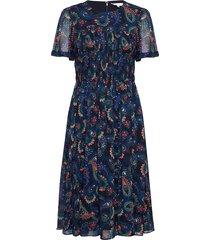 blair dress ss knälång klänning blå tommy hilfiger