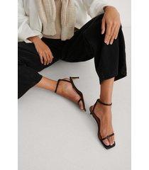 na-kd shoes sandaler med remmar - black