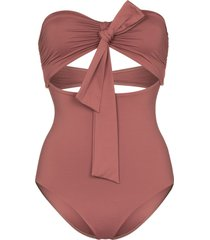 bondi born chelsea strapless swimsuit - brown