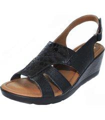 sandalia confort negro burana 999-001