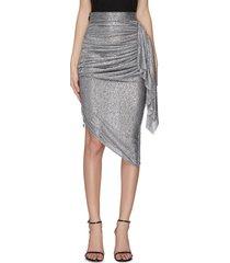 'raining' drape asymmetric skirt