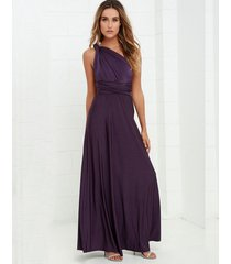 long purple bridesmaid infinity dress convertible wrap multi way maxi party ds2