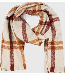 bufanda beige-terracota-rojo mng