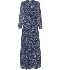 grdn patch maxi drs maxi dress galajurk blauw michael kors