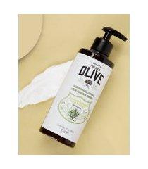 amaro feminino korres loção hidratante deo corporal - 350ml, óleo de oliva e flor de oliveira