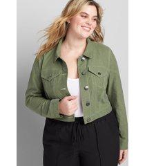 lane bryant women's soft crop jacket 20 four leaf clover