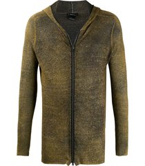avant toi knitted zip-up hoodie - green